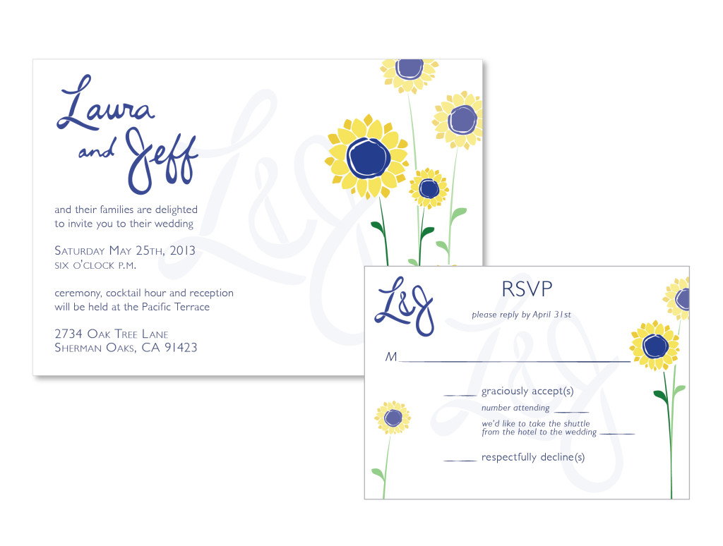 Sunflower Wedding Invitations