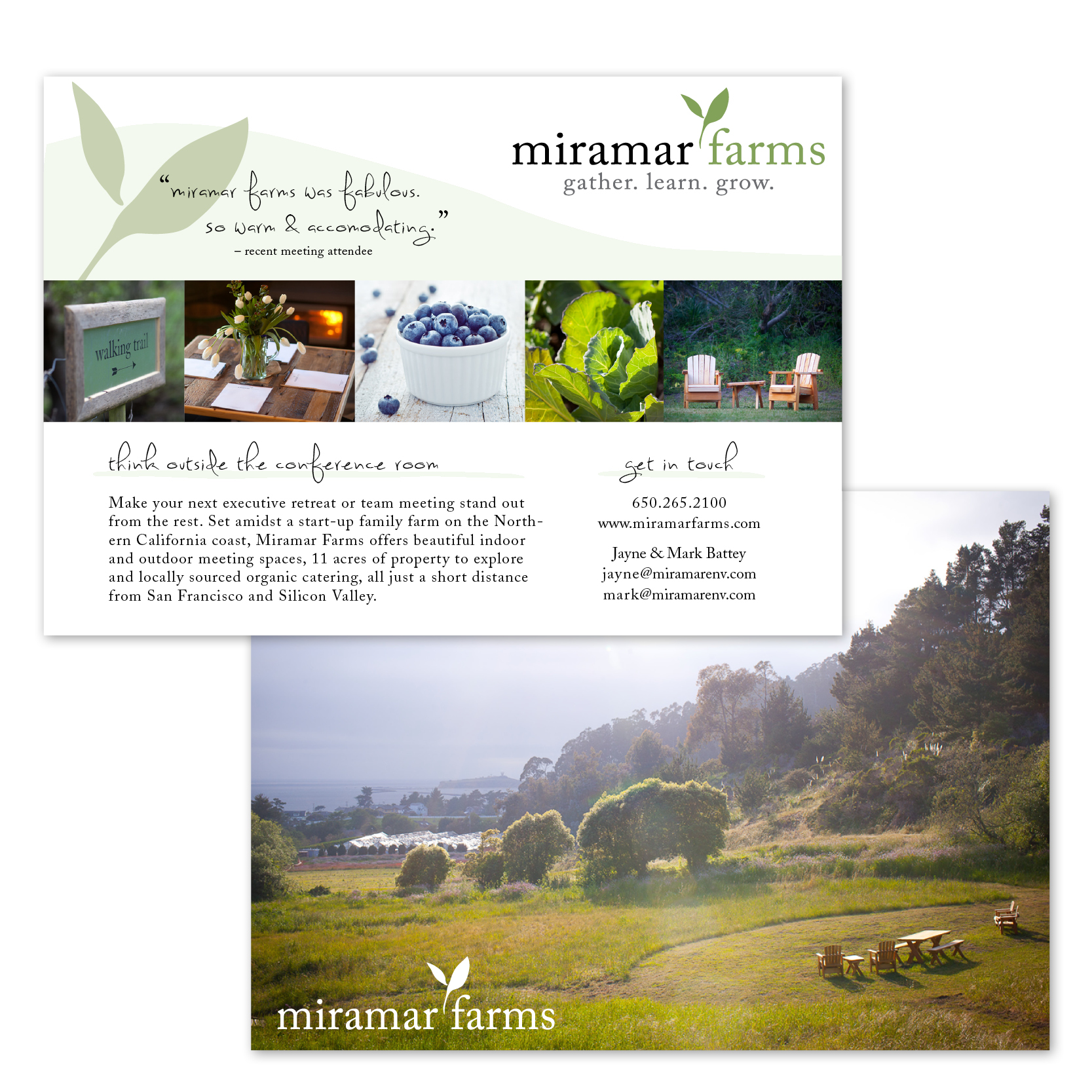 Miramar Farms Promotional Card