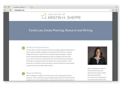Law Office of Kristin H. Sheppe Website