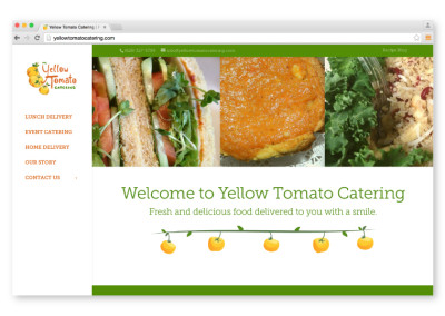 Yellow Tomato Catering Website