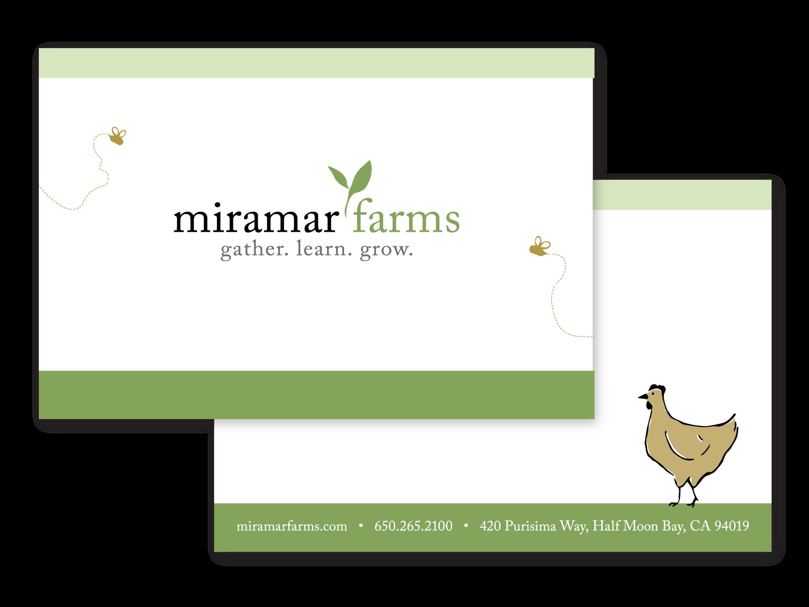 Miramar Farms Note Card