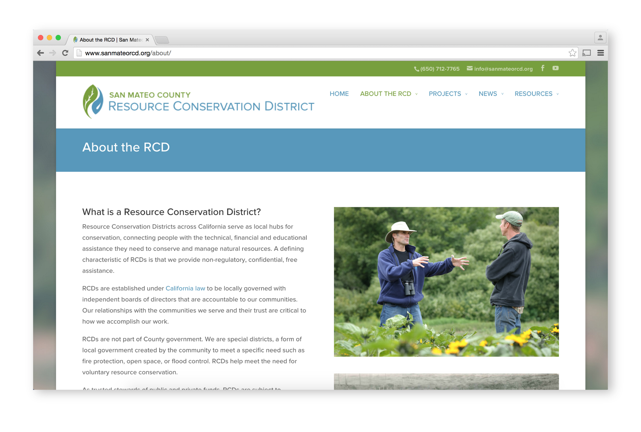 RCD Website About Page