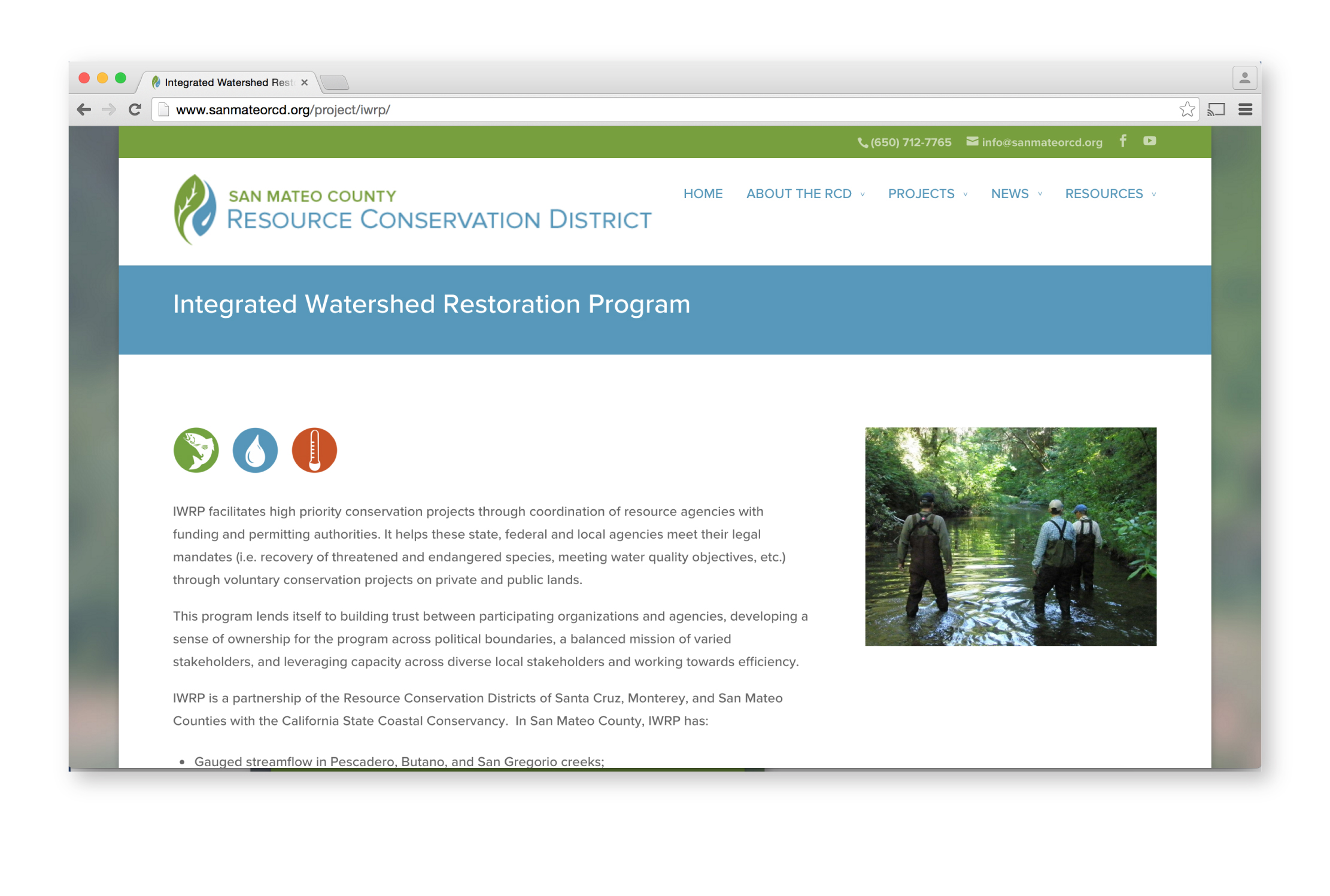 RCD Website Project Page