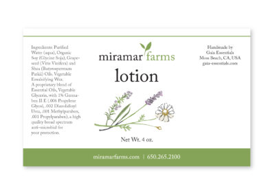 Miramar Farms Soap/Lotion Labels