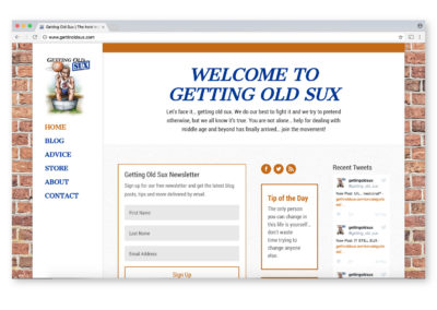 Getting Old Sux Website