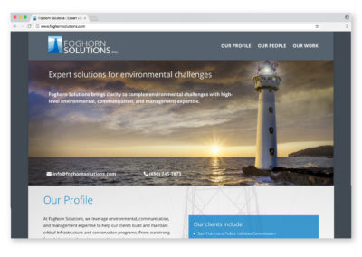 Foghorn Solutions Website